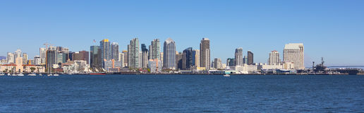 A View of San Diego Bay and Downtown Royalty Free Stock Photo