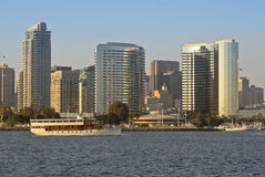 A View of San Diego Bay, High Spirits and Downtown Royalty Free Stock Photography