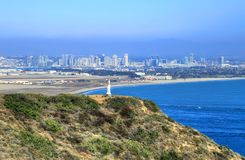 San Diego, California from the Cabrillo National Monument at Point Loma stock photo