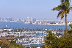 View of San Diego California from Point Loma. Stock Images