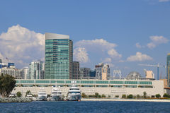 View of San Diego Convention Center from Bay Stock Image