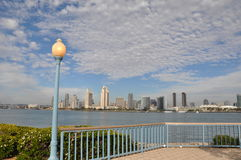 View of San Diego from Coronado Island. View of San Diego from Centennial Park on Coronado Island in California royalty free stock images