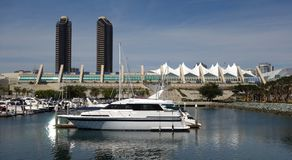 View of the San Diego Marina and Convention Center stock photo