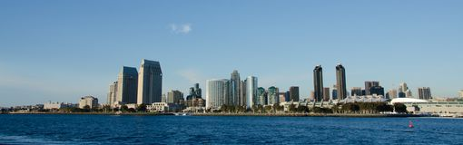 View at San Diego skyline royalty free stock photo