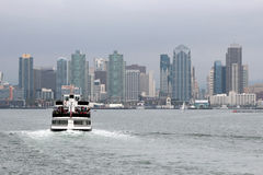 A view of the San Diego skyline royalty free stock images