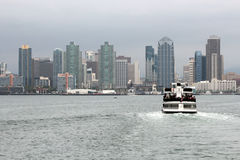 A view of the San Diego skyline stock images