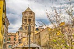 View of San Donato Church, historic centre, Genoa Genova , Italy royalty free stock image