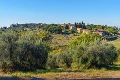 View of San Donato in Poggio. Chianti region. Tuscany. Italy. View of San Donato in Poggio. Chianti region. Tuscany landscape. Italy royalty free stock photography