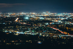 View of the San Fernando Valley from Mulholland Drive, in Los An Royalty Free Stock Image