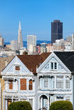 View of San Francisco from Alamo Square Stock Photo