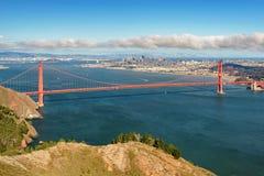 View of the San Francisco ang Golden Gate Bridge. California Royalty Free Stock Photos