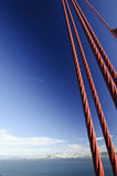 View of San Francisco city from Golden Gate Bridge Stock Photography