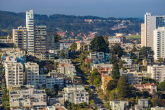 View of San Francisco from the Coit Tower Stock Photography
