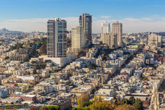 View of San Francisco from the Coit Tower Royalty Free Stock Photography
