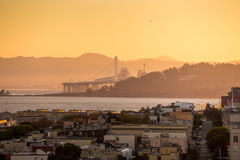 View of San Francisco from the Coit Tower Stock Image