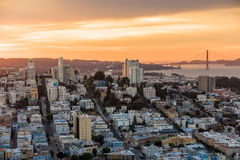 View of San Francisco from the Coit Tower Royalty Free Stock Photo