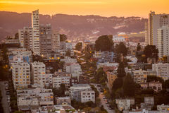 View of San Francisco from the Coit Tower Royalty Free Stock Photos