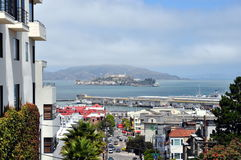 View of San Francisco from Russian Hill. Stunning view from Russian Hill, San Francisco (California) in a sunny day Stock Photography