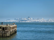 View of San Francisco from Sausalito Pier Stock Image