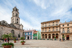 View of San Francisco Square in Havana Royalty Free Stock Image