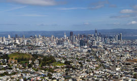 View of San Francisco from Twin Peaks. Panorama. Stock Image