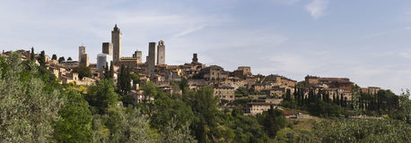 View of San Gimignano towers, Italy royalty free stock photography