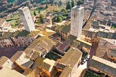 View of san gimignano, Tuscany, Italy. Stock Image