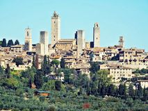 View of san gimignano. View of tuscany village san gimignano in italy Stock Images