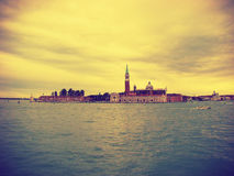 View of the San Giorgio di Maggiore from Piazza San Marco Stock Photos