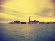 View of the San Giorgio di Maggiore from Piazza San Marco stock photos