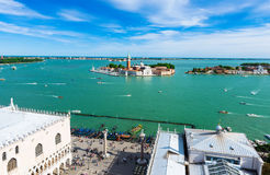 View of San Giorgio island, Grand canal, San Marco, Venice Royalty Free Stock Photography