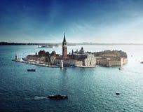 View of San Giorgio island, Venice Stock Photo
