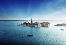 View of San Giorgio island, Venice Stock Photo