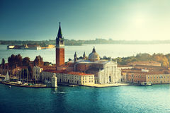View of San Giorgio island, Venice Royalty Free Stock Images