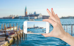 View of San Giorgio island, Venice, Italy Royalty Free Stock Photography