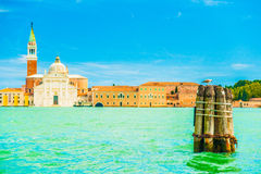 View of San Giorgio Island in Venice Royalty Free Stock Images