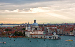View from San Giorgio Maggiore belltower Stock Images