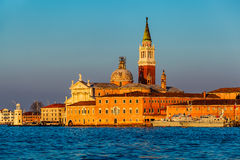 View of San Giorgio Maggiore Church facing Grand Canal Royalty Free Stock Image
