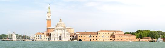 View of  San Giorgio Maggiore church in Venice Royalty Free Stock Photography