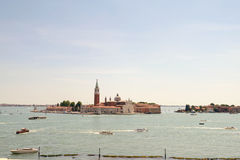 View on San Giorgio Maggiore island  from the Doge's Palace, Venice. Italy Royalty Free Stock Photo