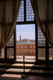 View on San Giorgio Maggiore island  from the Doge's Palace, Venice. Italy Royalty Free Stock Photography
