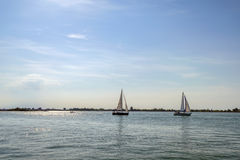 View on San Giorgio Maggiore island  from the Doge's Palace, Venice. Italy Royalty Free Stock Images