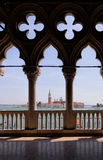 View on San Giorgio Maggiore island  from the Doge's Palace, Venice. Italy Stock Photo