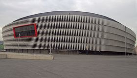 View of the San Mames football stadium in Bilbao Royalty Free Stock Photography