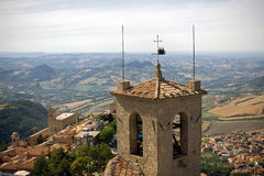View from San Marino castle Stock Photo