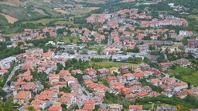 View of San Marino stock video footage