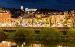 View of San Miniato al Monte basilica in Florence Stock Photography