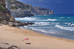 San Nicolao beach at Buggerru, Sardinia, Italy Royalty Free Stock Image