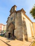 View of the san pedro catholic Church, Melide Royalty Free Stock Photo