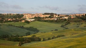 View on San Quirico d'Orcia Stock Photography
